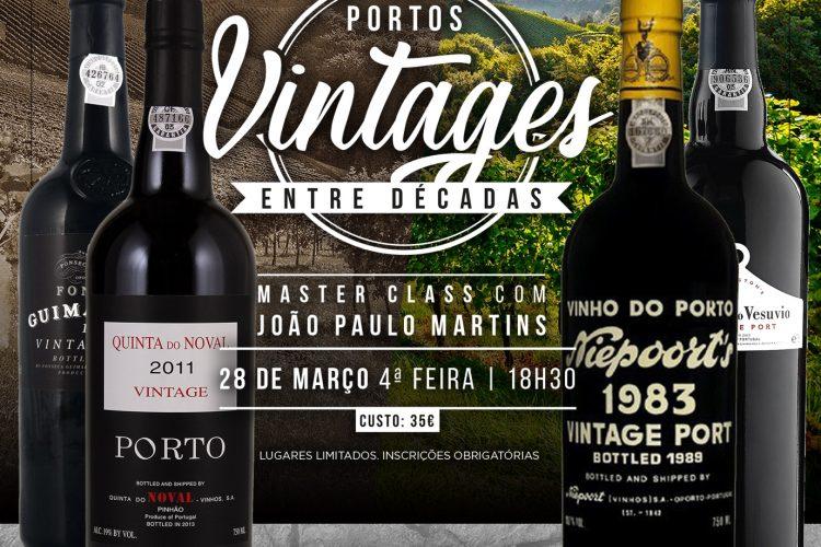Portos Vintages- MasterClass Dia 28 De Março De 2018